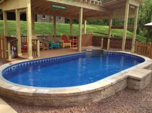 durable, custom, fiberglass inground pool at Reflection Pools