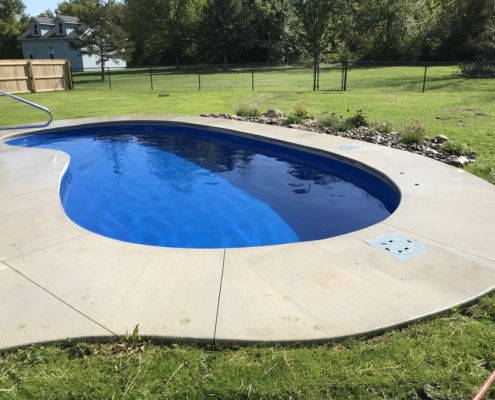 inground pool with concrete
